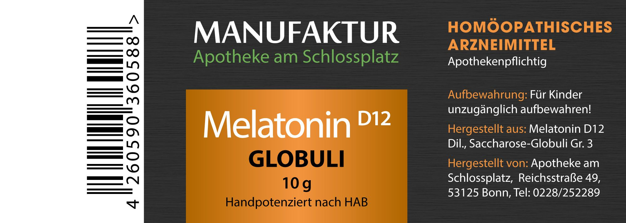 Melatonin D12 Globuli