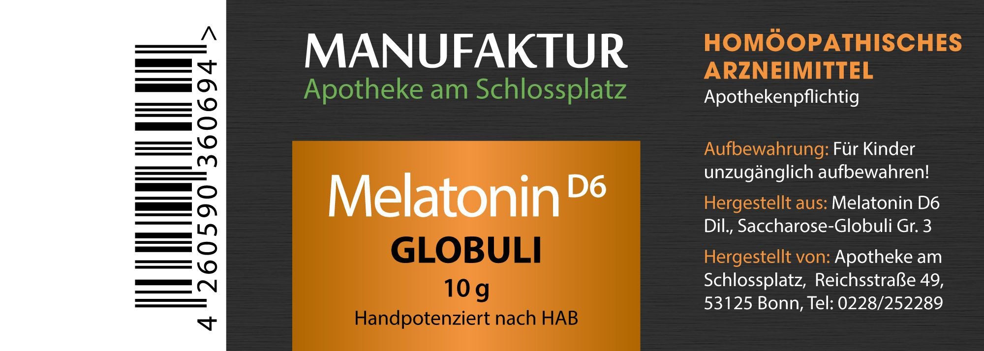 Melatonin D6 Globuli